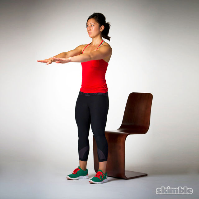 How to do: Chair Squats - Step 3