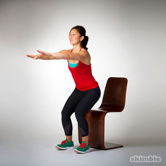 How to do: Chair Squats - Step 2