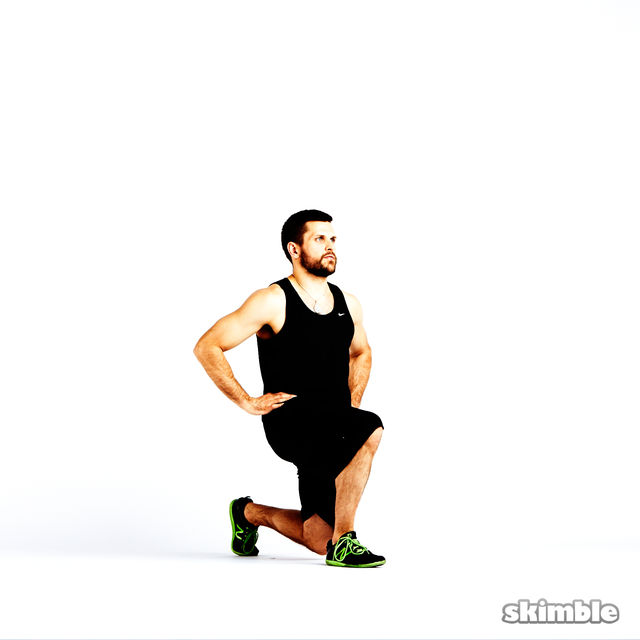 How to do: Clock Lunges - Step 8
