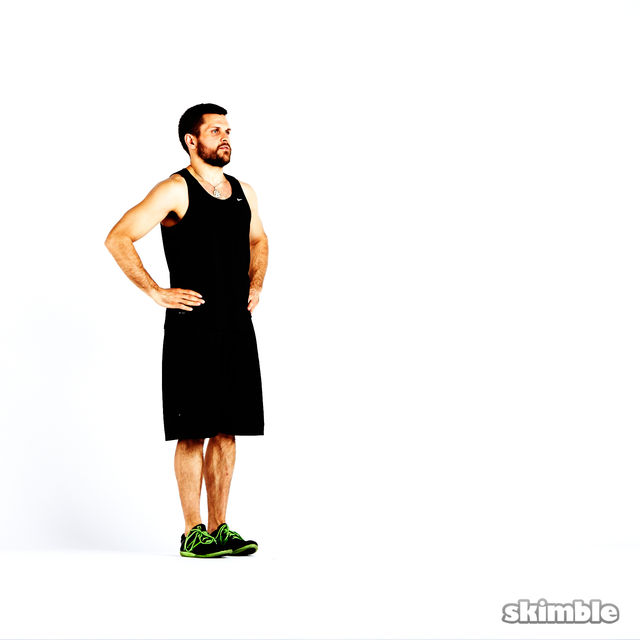 How to do: Clock Lunges - Step 7
