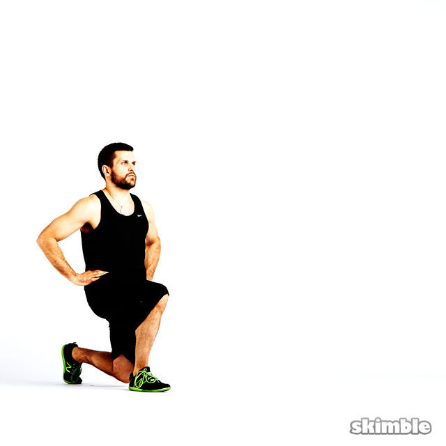 How to do: Clock Lunges - Step 6