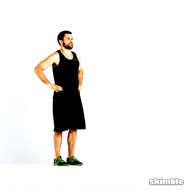 How to do: Clock Lunges - Step 5