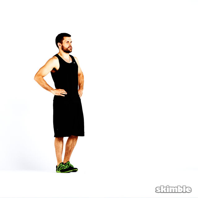 How to do: Clock Lunges - Step 3