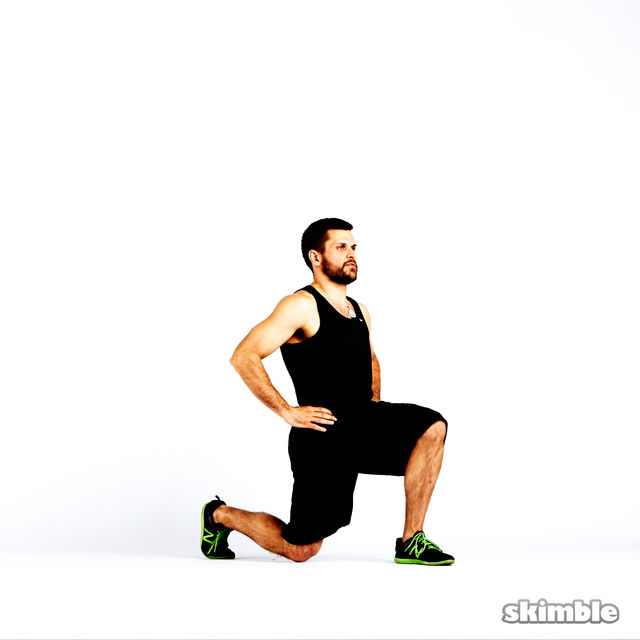 How to do: Clock Lunges - Step 2