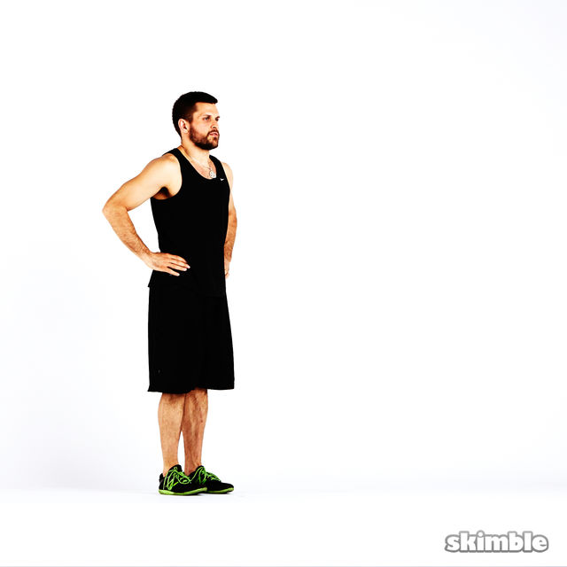 How to do: Clock Lunges - Step 1