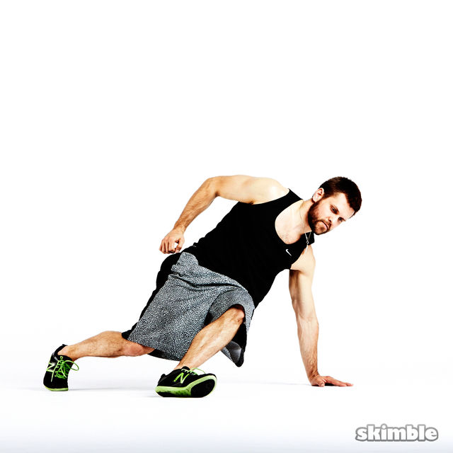 How to do: Breakdance Single Arm Mountain Climbers - Step 1