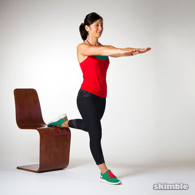Bulgarian Split Squats Right Leg