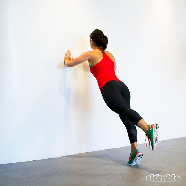 How to do: Wall Push-Ups with Leg Lifts - Step 5