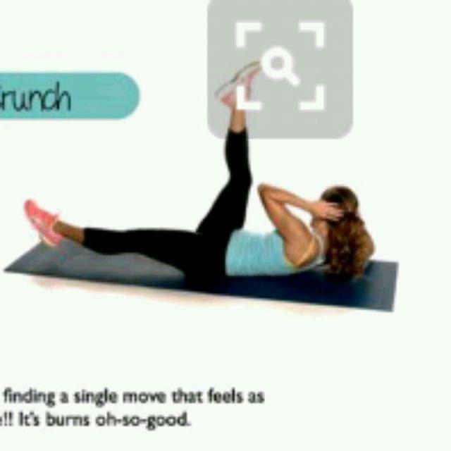 How to do: Scissor Crunch - Step 2