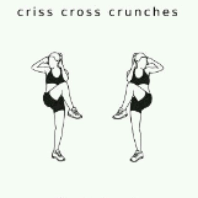 How to do: Criss Cross Crunches - Step 1
