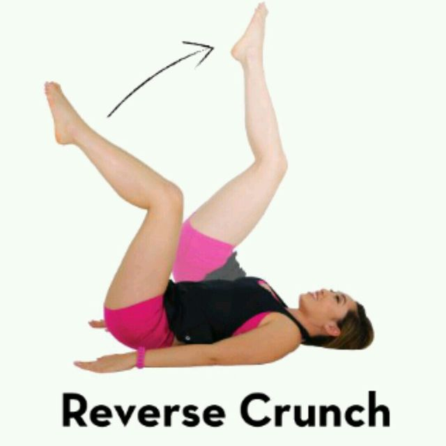 How to do: Reverse Crunch - Step 1