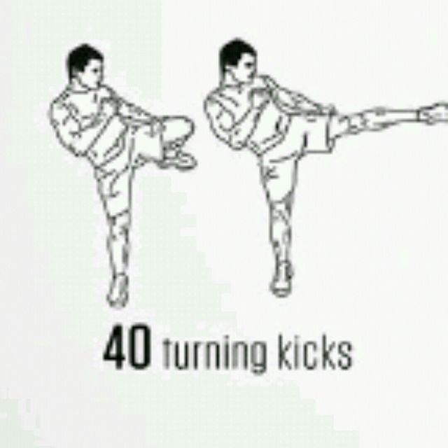 How to do: Turning Kicks - Step 1