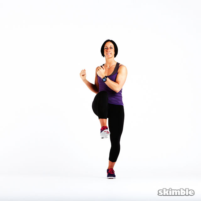 How to do: High Knee Obliques - Step 4