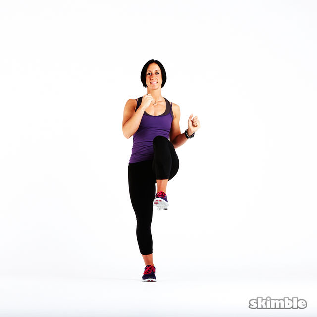 How to do: High Knee Obliques - Step 3