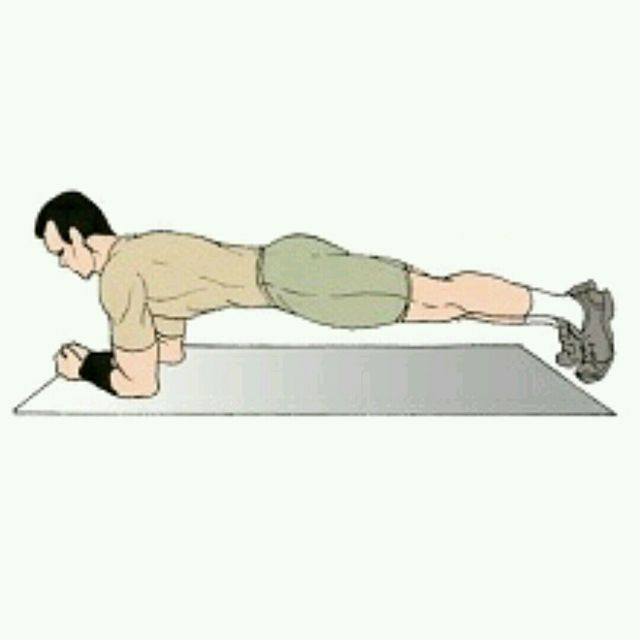 How to do: Palm Taps - Elbow Plank - Step 1