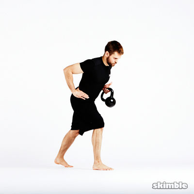 Kettlebell Left Arm Bent Over Row