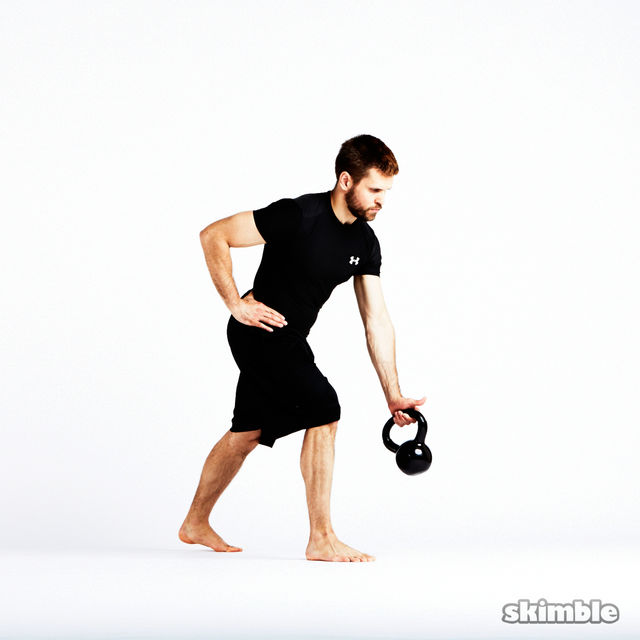 How to do: Kettlebell Left Arm Bent Over Row - Step 3