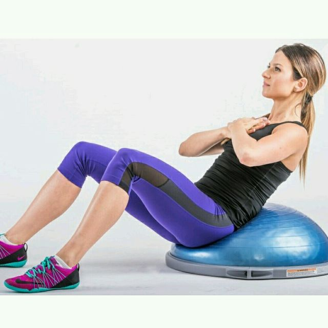 How to do: Weighted fast sit ups - angle 60-90 - BOSU - Step 1