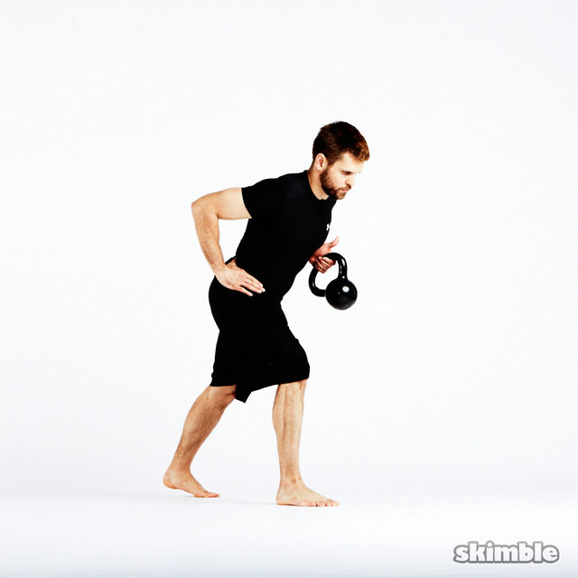 How to do: Kettlebell Left Arm Bent Over Row - Step 4