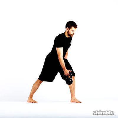 Kettlebell Right Arm Bent Over Row