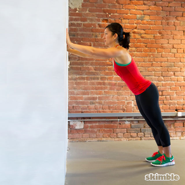 How to do: Wall Hamstring Stretches - Step 1