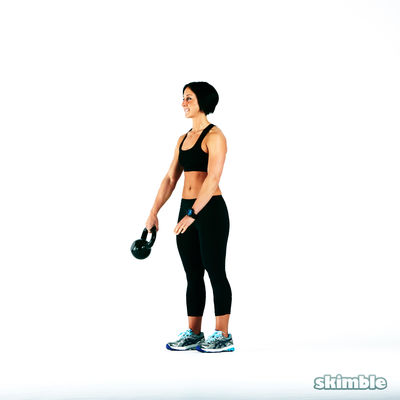 Kettlebell Around the Waist Left