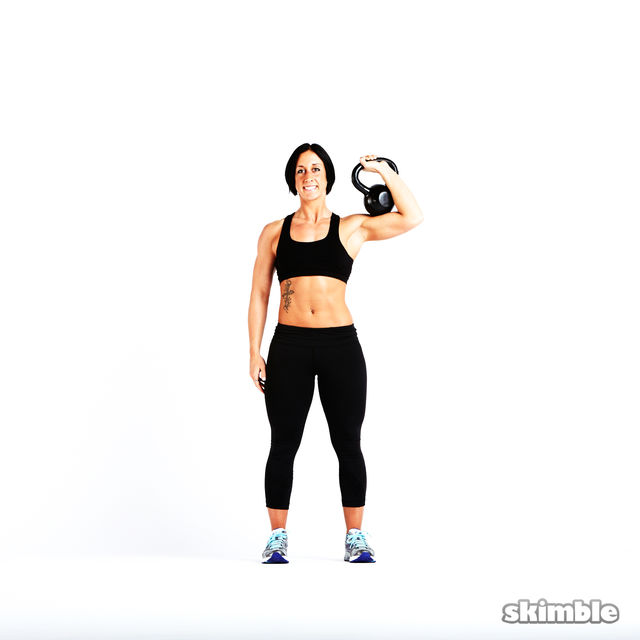 How to do: Kettlebell Strict Press - Step 4