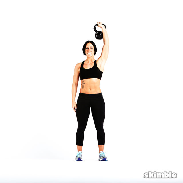 How to do: Kettlebell Strict Press - Step 5