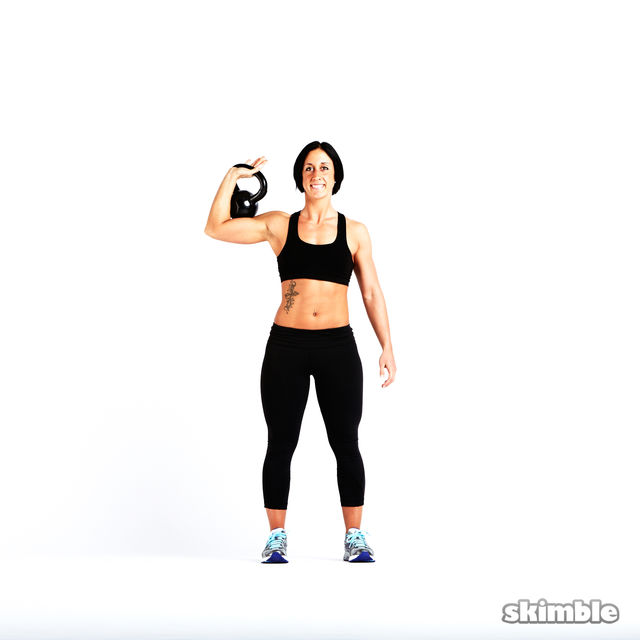 How to do: Kettlebell Strict Press - Step 1
