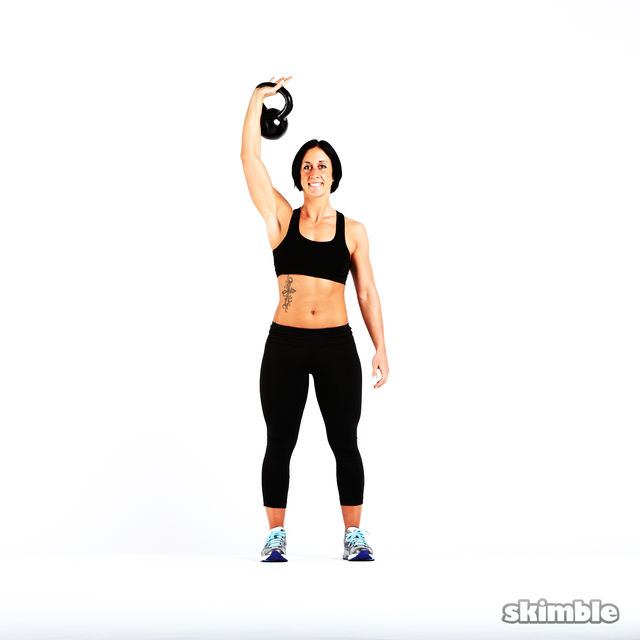 How to do: Kettlebell Strict Press - Step 2