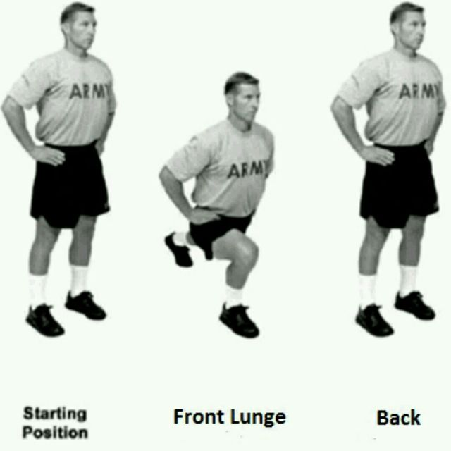 How to do: Front And Reverse Lunges - Step 1