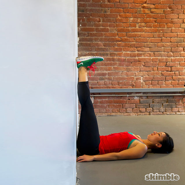 How to do: Wall Lying Leg Stretches - Step 3
