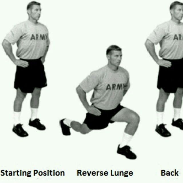 How to do: Front And Reverse Lunges - Step 2