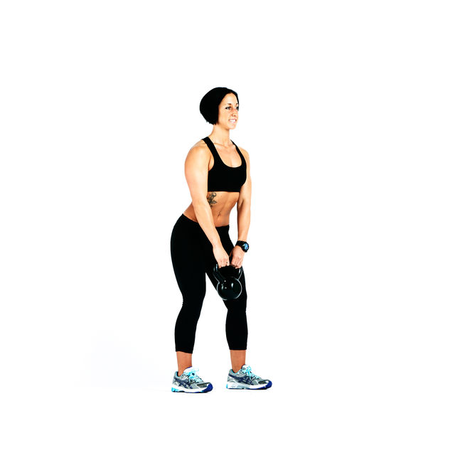 How to do: Kettlebell Squat to Upright Row - Step 2