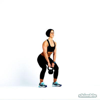 Goblet Squats With Kettlebell