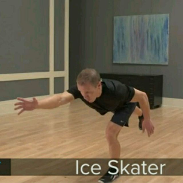 How to do: Jack Saunders Ice Skater No Touch - Step 1