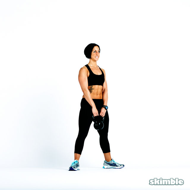 How to do: Sumo Squats with Kettlebell - Step 4