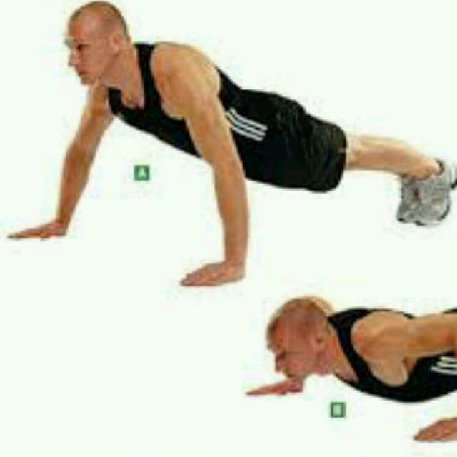How to do: Wider Push Ups - Step 1