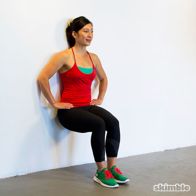 Wall Sits with Leg Lifts - Exercise How-to - Workout ...