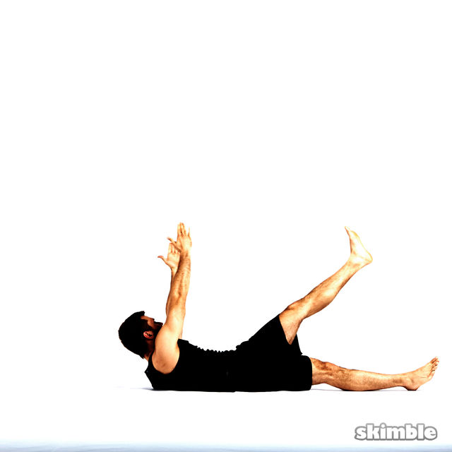 How to do: Left Cross Leg Obliques - Step 3