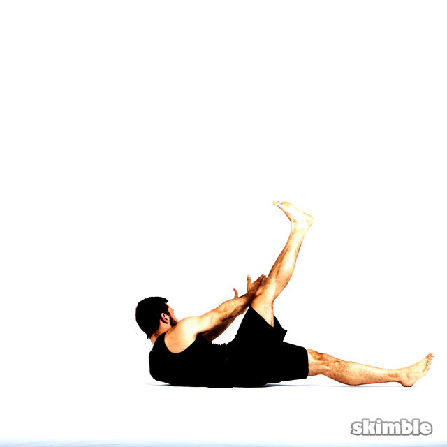 How to do: Left Cross Leg Obliques - Step 2