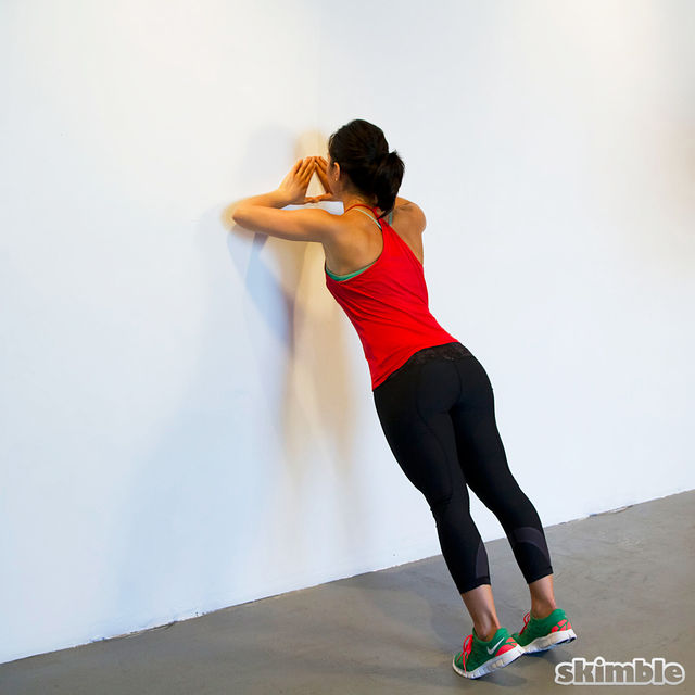 How to do: Wall Diamond Push-Ups - Step 4