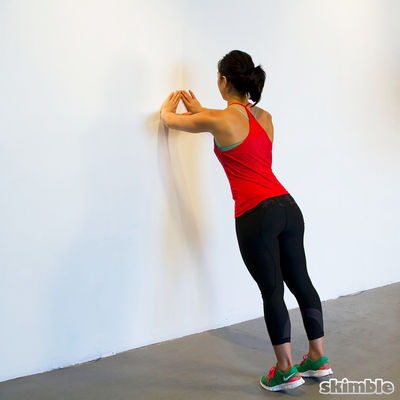 Wall Diamond Push Ups
