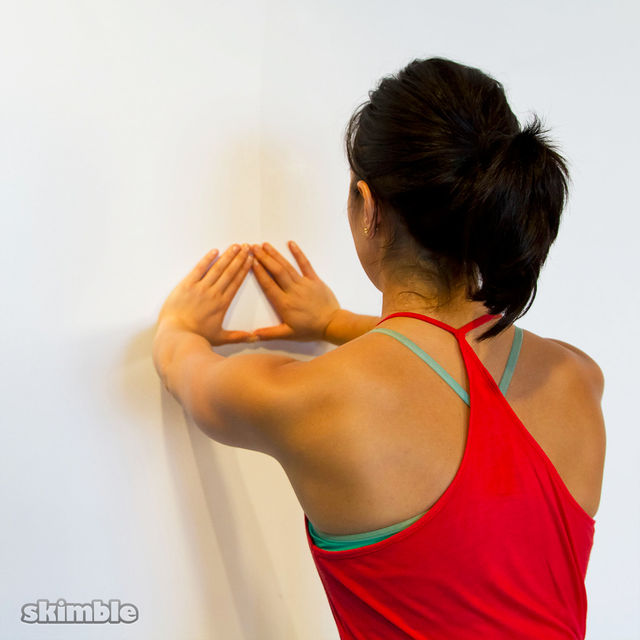 How to do: Wall Diamond Push-Ups - Step 1
