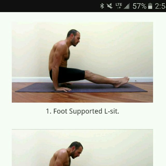 How to do: L Sit - Step 1