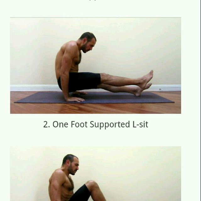 How to do: L Sit - Step 2