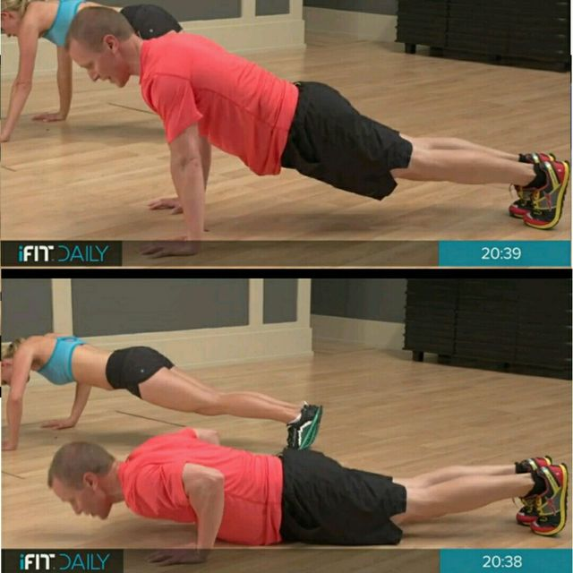How to do: Dinamic Push Up With Plank Jacks - Step 2