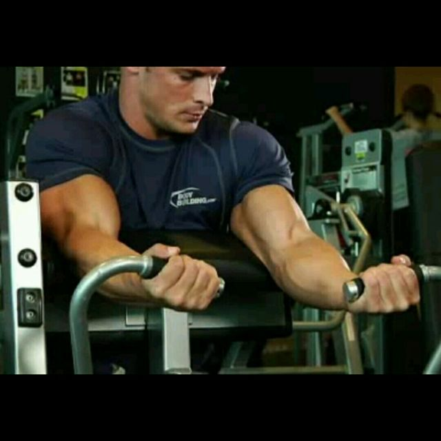 How to do: Machine Preacher Curls - Step 1
