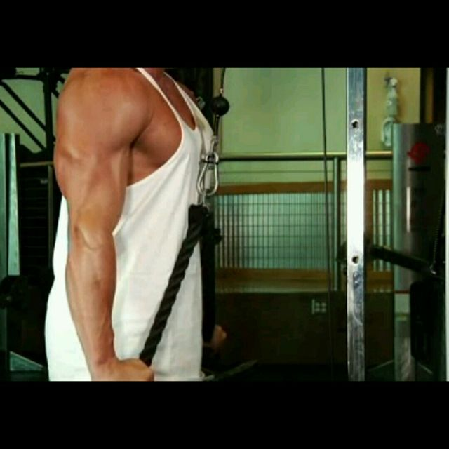How to do: Triceps Rope Pushdown - Step 1