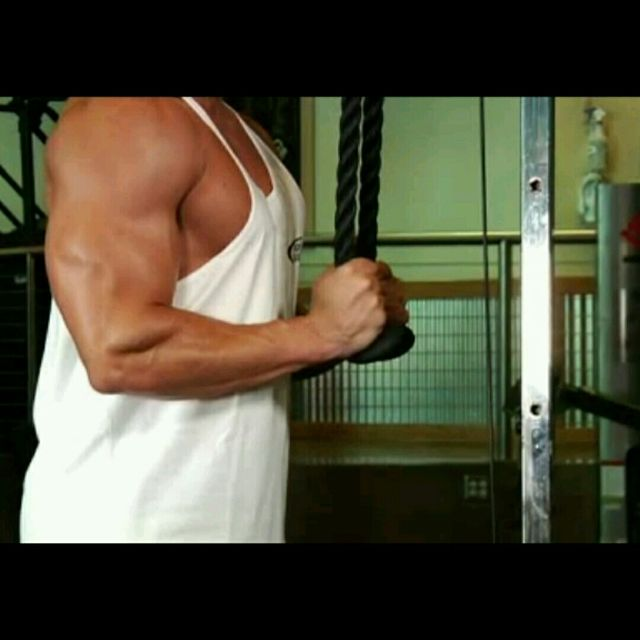 How to do: Triceps Rope Pushdown - Step 2